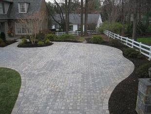 cobblestone paver driveway in MD