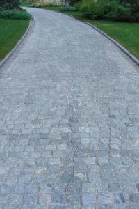 grey cobblestone walkway